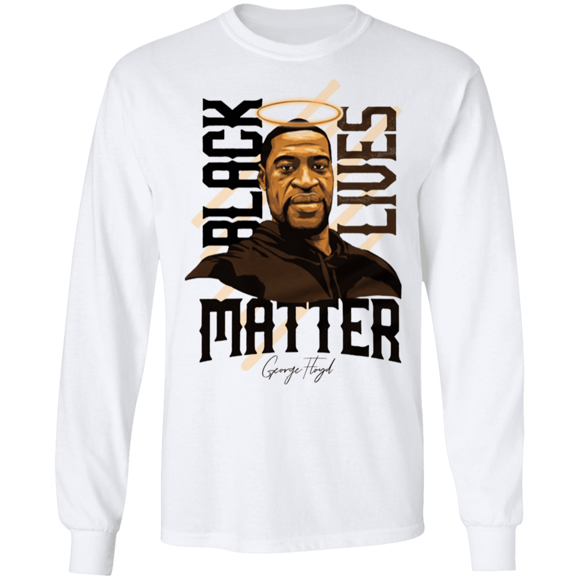 Black Lives Matter Sweatshirt Say His Name George Floyd Long Sleeve Blm