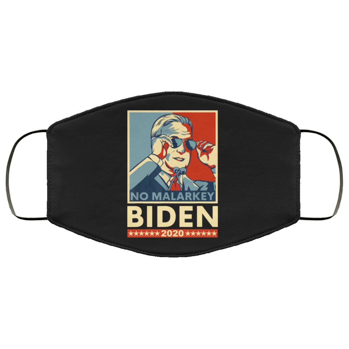 Biden No Malarkey 2020 Face Mask With Sunglasses Cool President Parade Biden Campaign For Sale