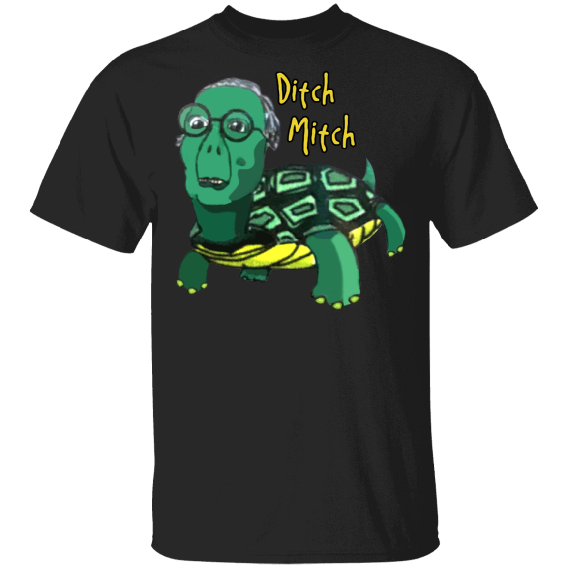 Fuck Mitch McConnell Shirt Ditch Mitch Funny Anti Turtle Face Against McConnell T-Shirt