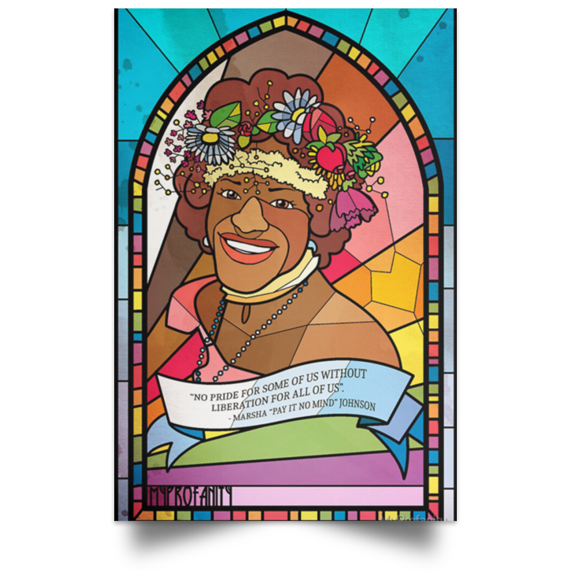 Marsha P Johnson Pay It On Mind Poster Black Pride