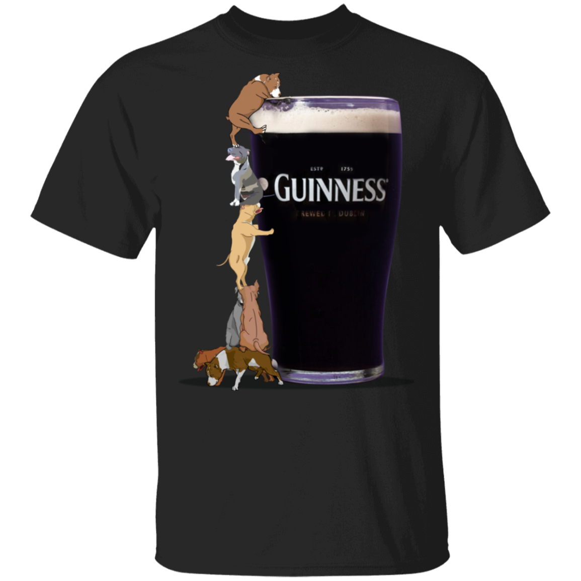 Pit Bull T-Shirt Estd 1759 Guinness Brewed In Dublin Shirt Gift For Beer Lover