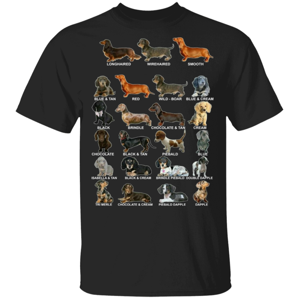Dachshund Colors & Patterns Wiener Dog Shirt - Dachshund Shirt