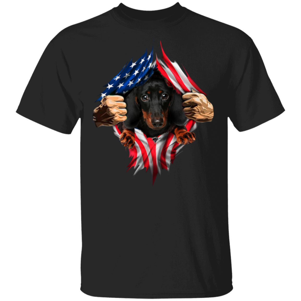 Dachshund Heartbeat Inside American Flag T-Shirt American Pride 4th Of July Shirts Old Navy