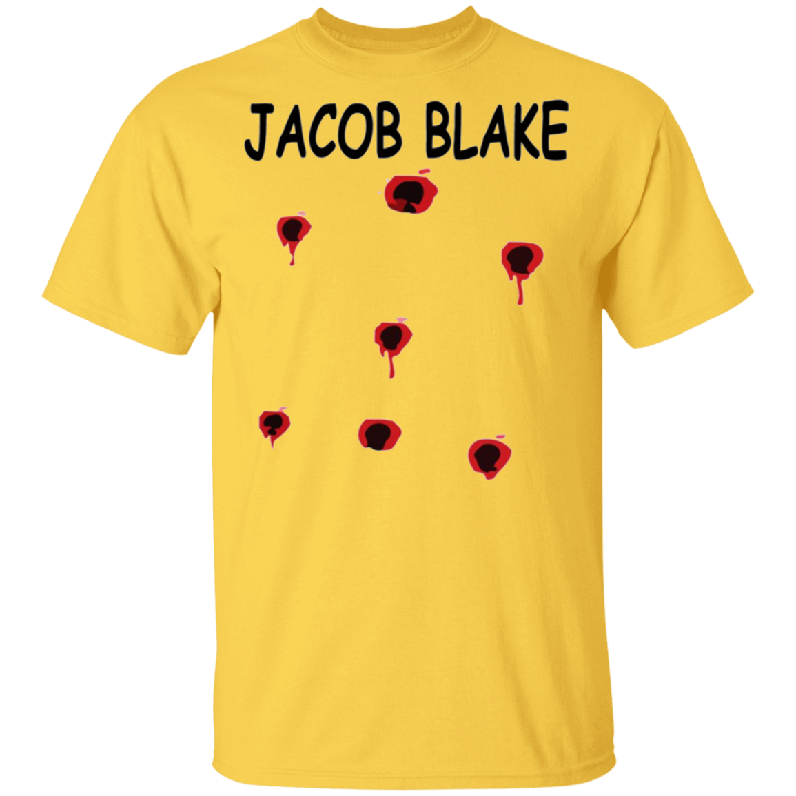 Jacob Blake 7 Bullet Holes In The Back T-Shirt Wnba Protest Shirts Blm