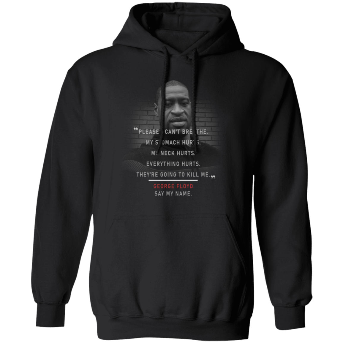 George Floyd Please I Can't Breathe Hoodie Black Lives Matter Hoodie Protest