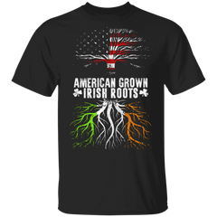 American Grown With Irish Roots Ireland Flag T-Shirt St Patrick's Shirt