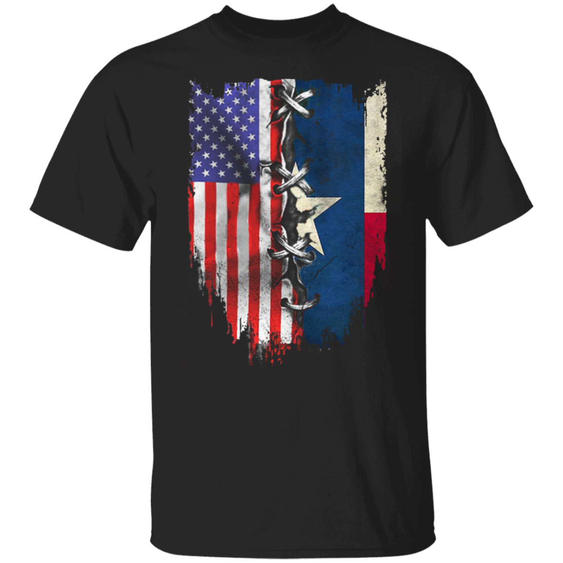 Texas Heartbeat Inside American Flag T-Shirt Fourth Of July Shirt