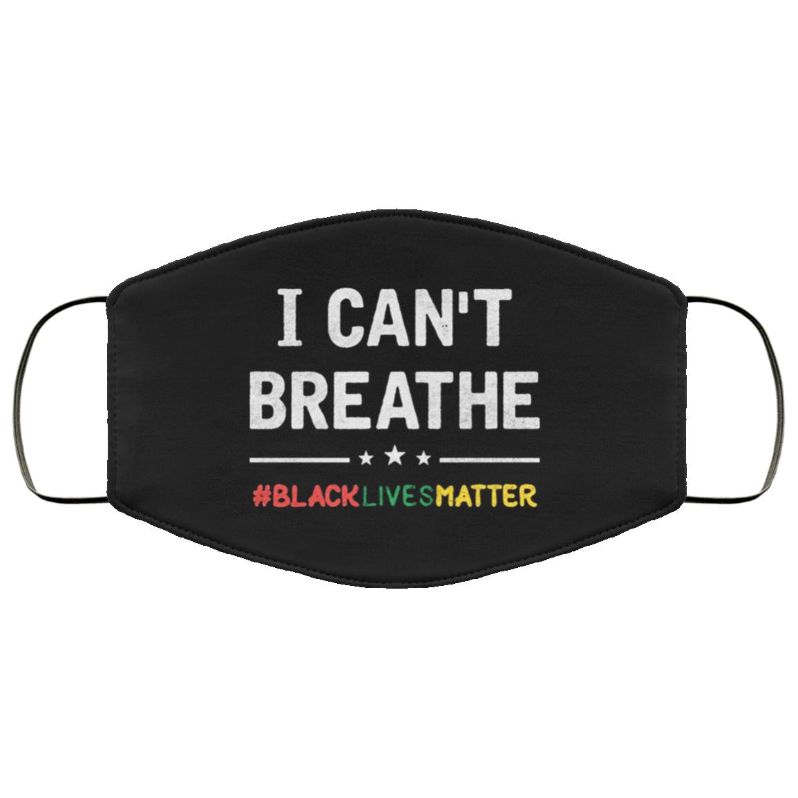 George Floyd I Can't Breathe Face Masks, Black Lives Matter Face Masks Protest