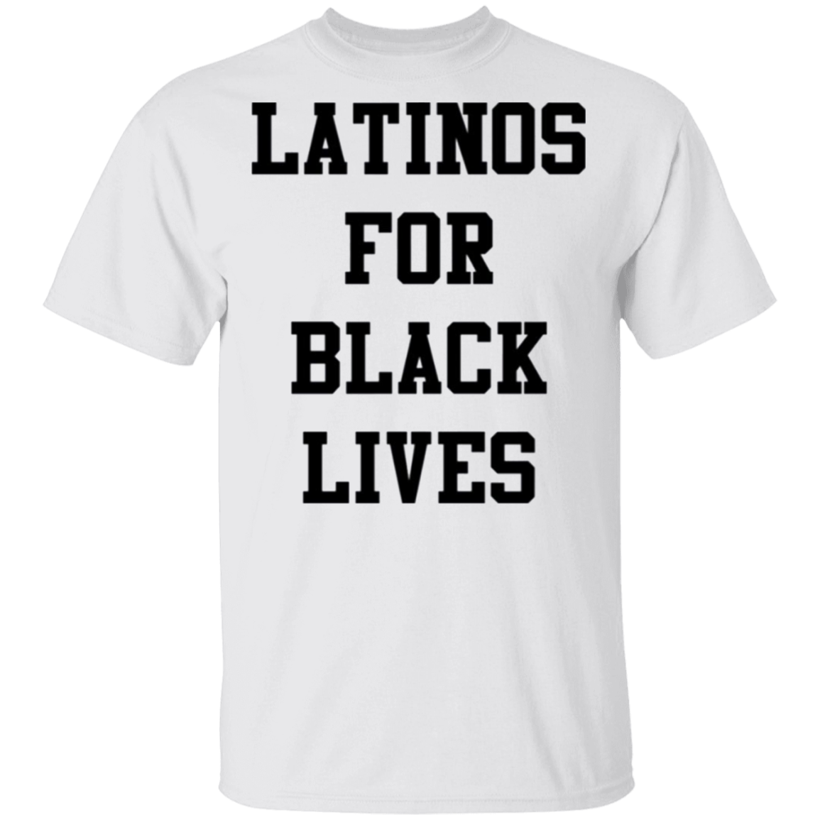 Latinos For Black Lives T-Shirt Stop Killing Black People George Floyd Protest T-Shirt