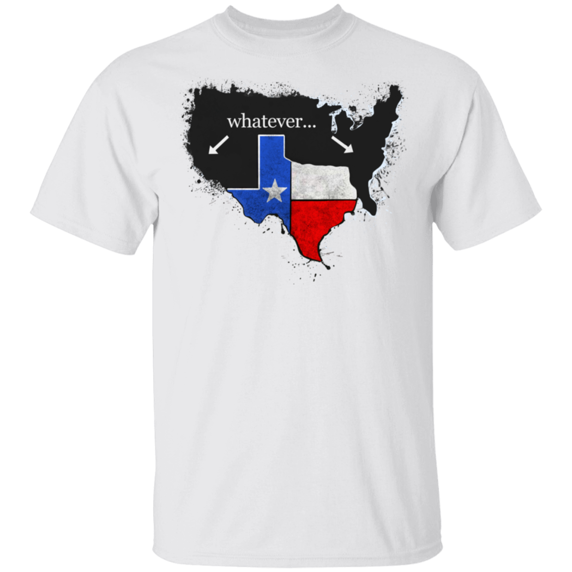 Whatever Texas State Flag With American Map T-Shirt Patriotic Texas Pride Apparel For Men