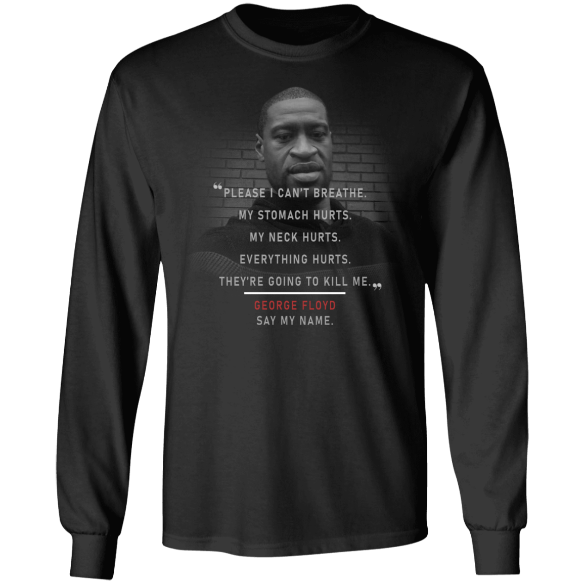 George Floyd Please I Can't Breathe Sweatshirt Justice For George Protest Blm
