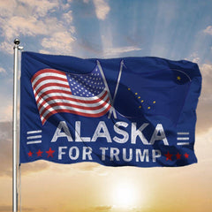 Alaska American For Trump Flags Support for President