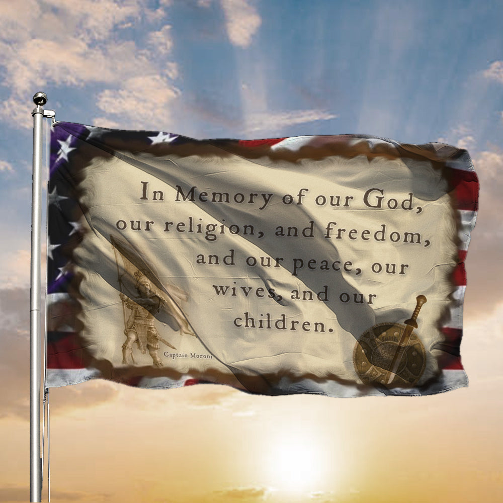 Captain Moroni Title of Liberty American Flag Gift For Missionary
