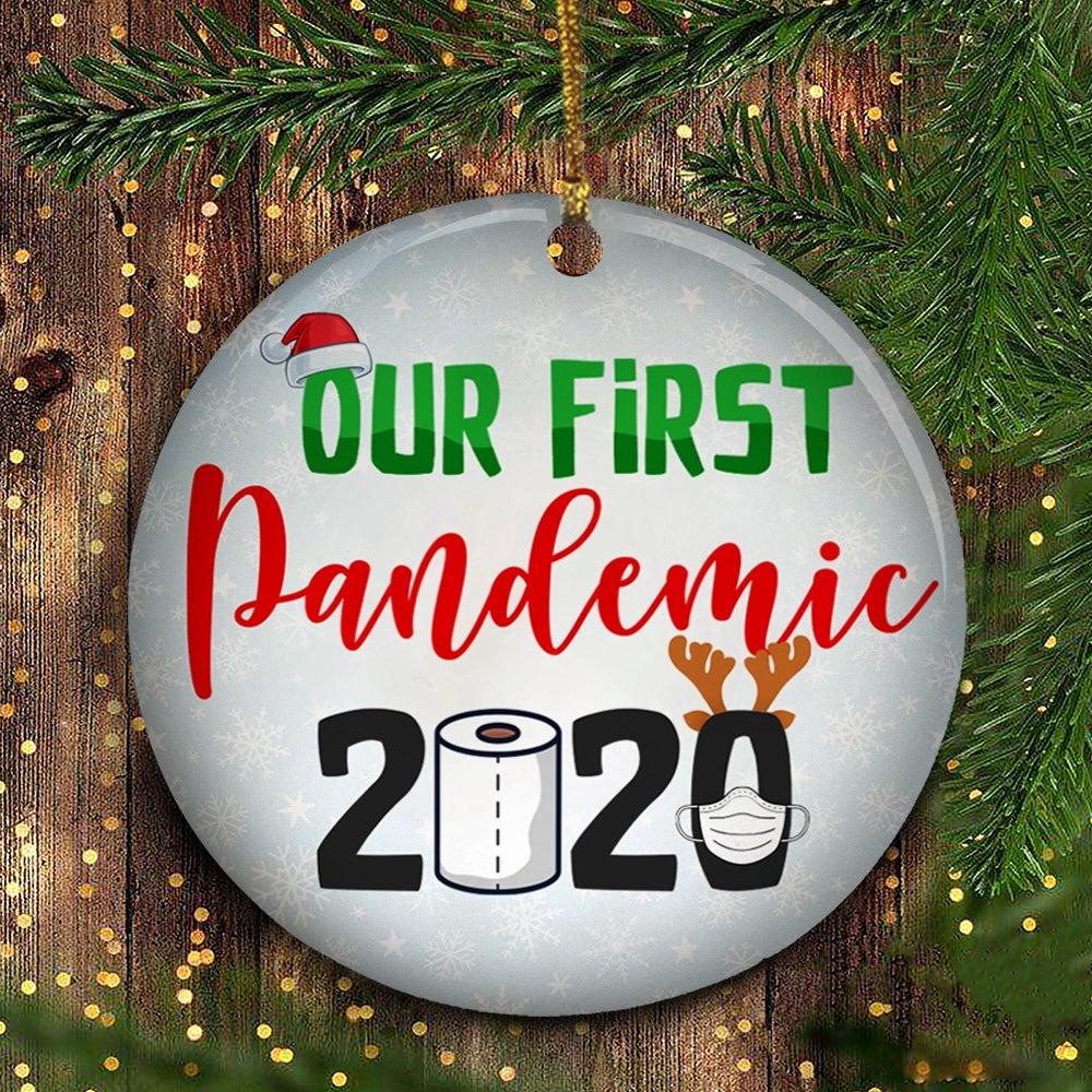 Our First Pandemic Christmas Ornament Funny Toilet Paper Ornament Christmas Tree Decor