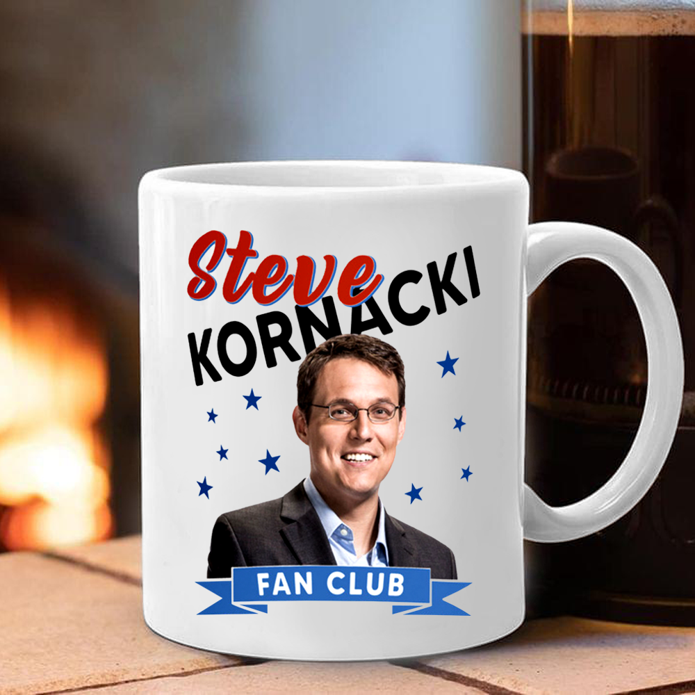 Steve Kornacki Fan Club Mug Steve Kornacki Political Coffee Mug Gift Idea