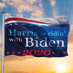 Harris Is Ridin's With Biden 2020 Flag Biden & Harris For President Vote Biden 2020 Flags