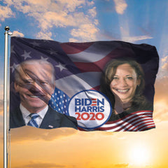 Joe Biden Harris 2020 Flags And American Flag Biden For President