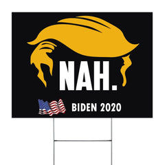 Trump Nah Biden 2020 Lawn Sign Official Biden Harris Yard Sign Anti Trump Signs Home Decor