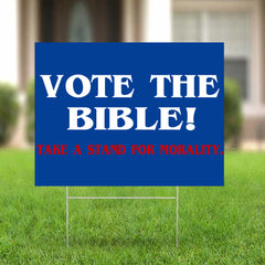 Vote Bible Election Campaign Sign Rural Southern Ohio Neighborhood
