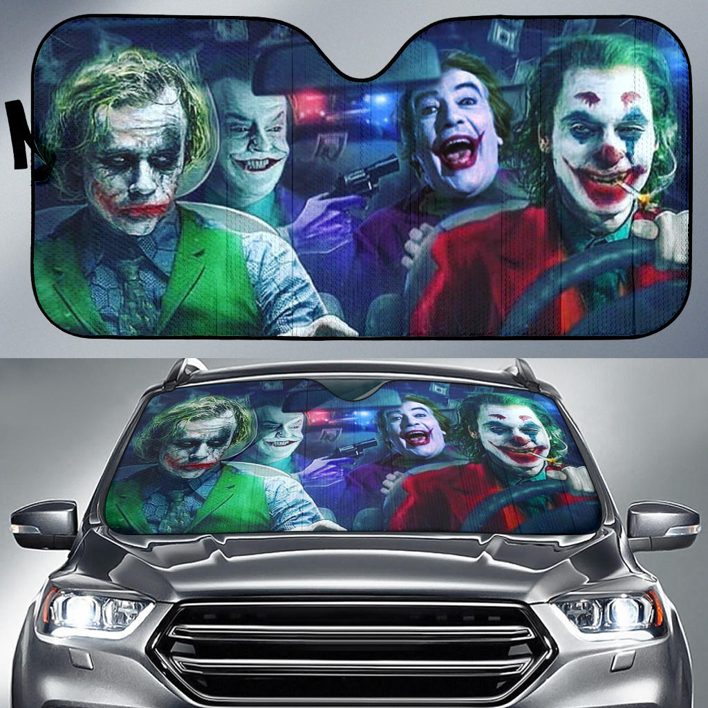 Jokers Generation Driving Auto Sun Shade Joker Lover