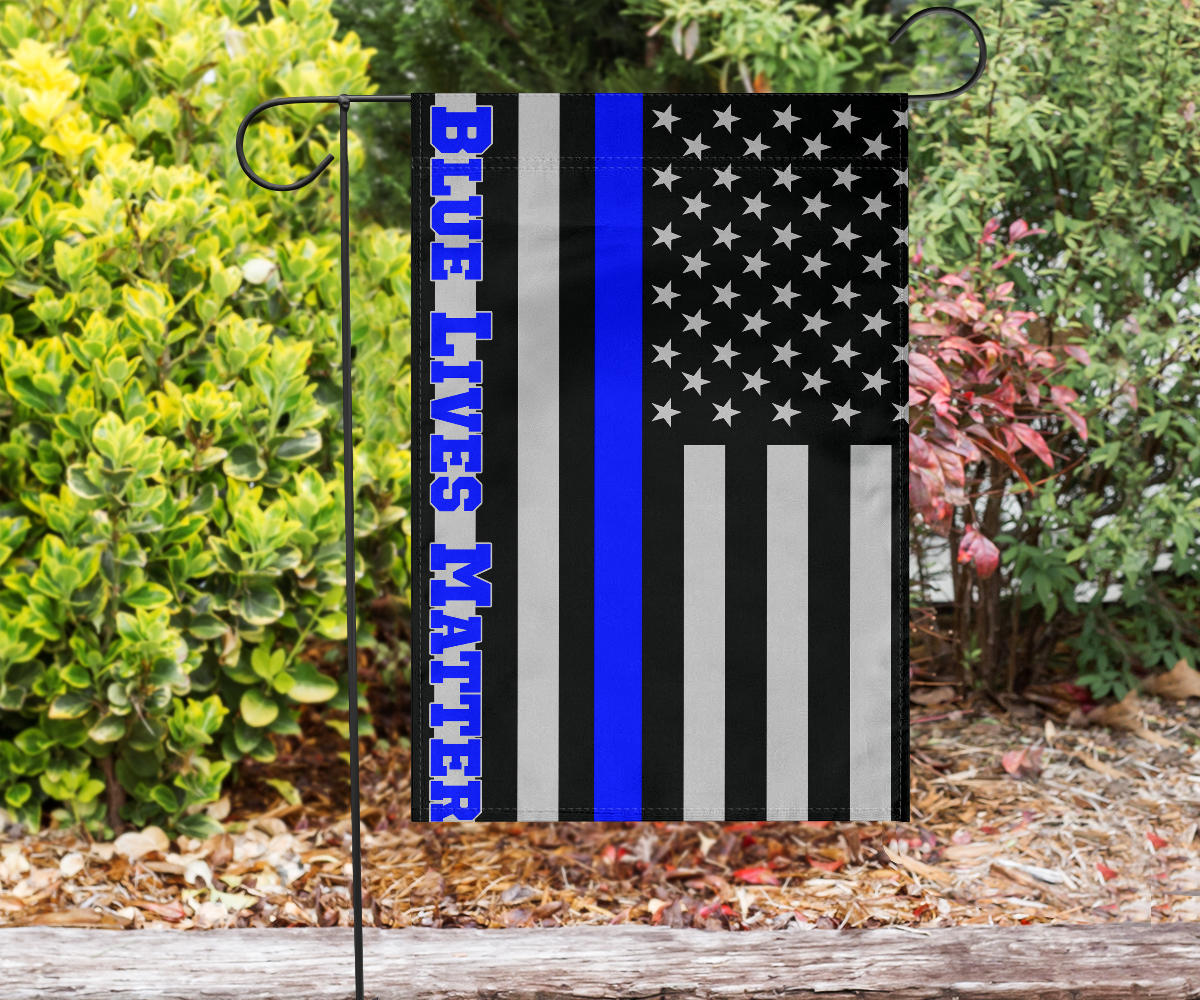 Blue Lives Matter American USA Police Flag Honoring Men Women Law Enforcement Officers