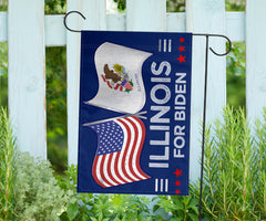 Illinois For Biden Flag Patriot Vote Biden Harris For President 2020