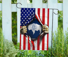 Wyoming American Flag Fourth Of July Flag Gift Patriotic Home Decor