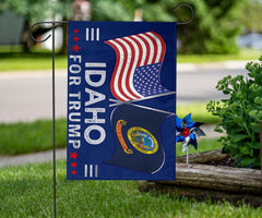 Idaho For Trump Flag Election Gifts Donald Trump For President 2020