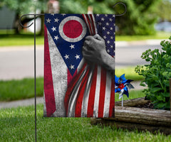 Ohio and American Flag Decor Independence Day