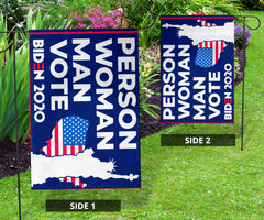Person Woman Man Vote Biden Flag Biden For President Flag Biden Harris Merch Against Trump