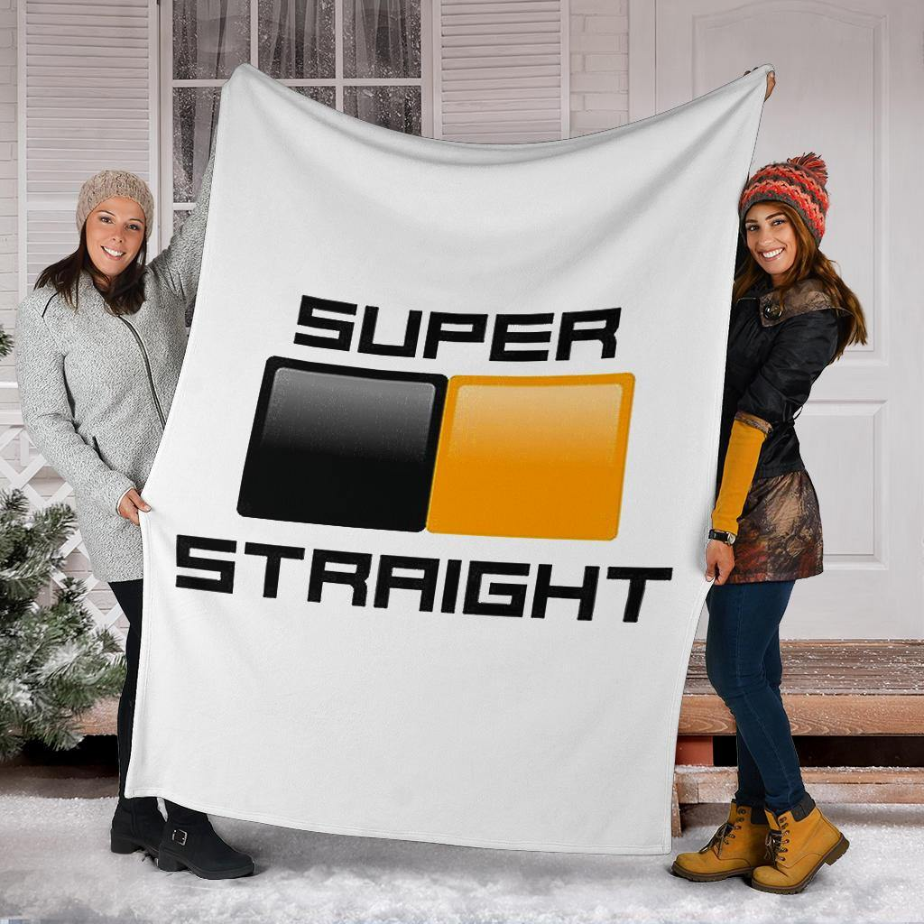 Super Straight Blanket Black And Orange Gifts For Pride Month Super Straight Movement - Pfyshop.com