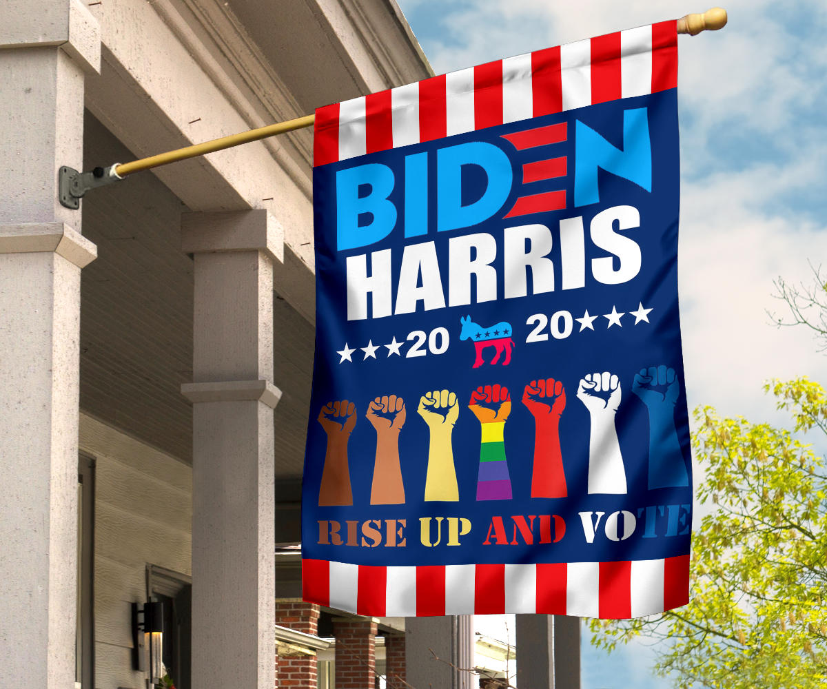 Biden Harris 2020 Rise Up And Vote Democratic Party Flag Biden Harris Banner For Sale