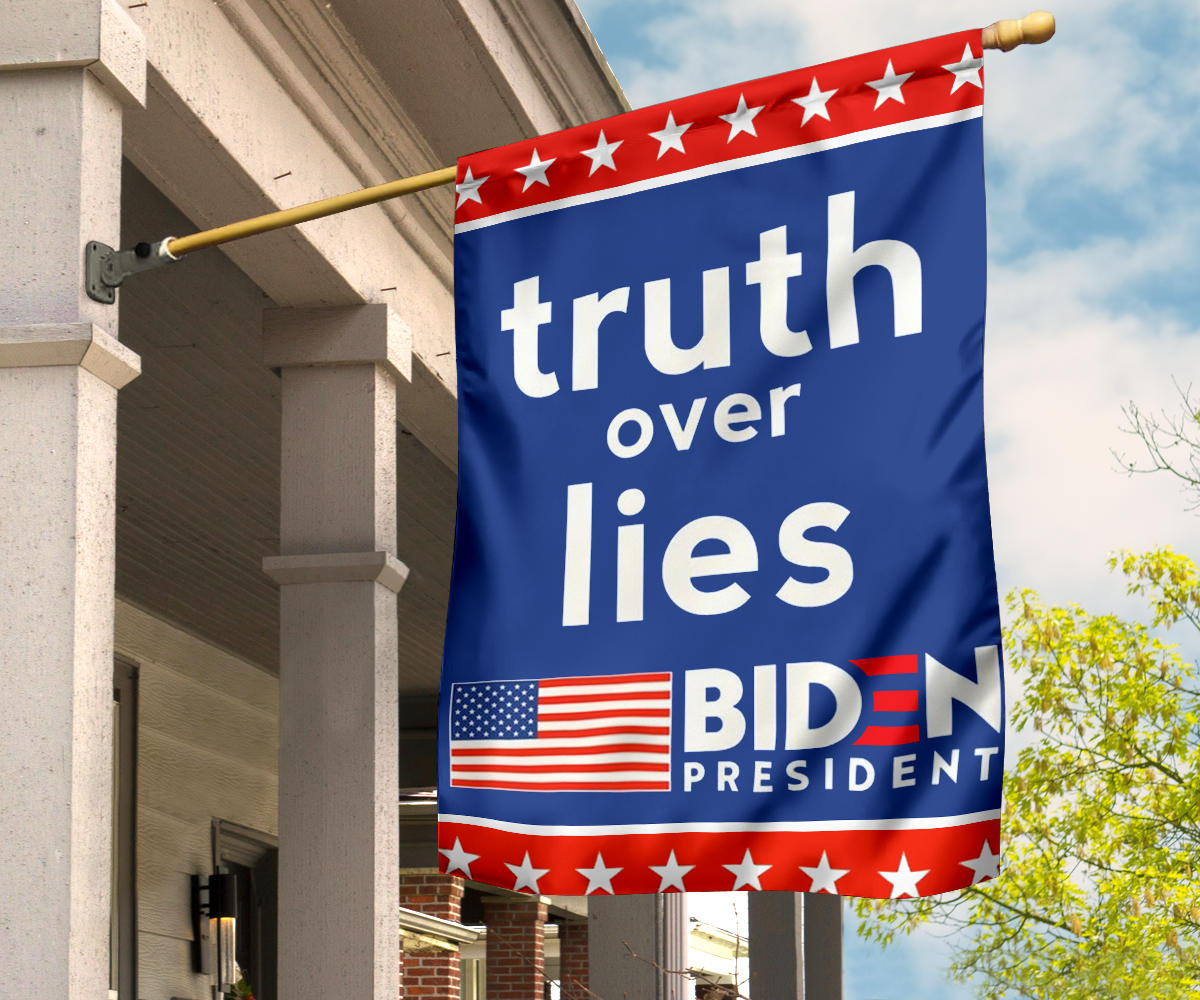 Truth Over Lies Biden President American Flag Biden Harris 2020 Political Campaign Merchandise