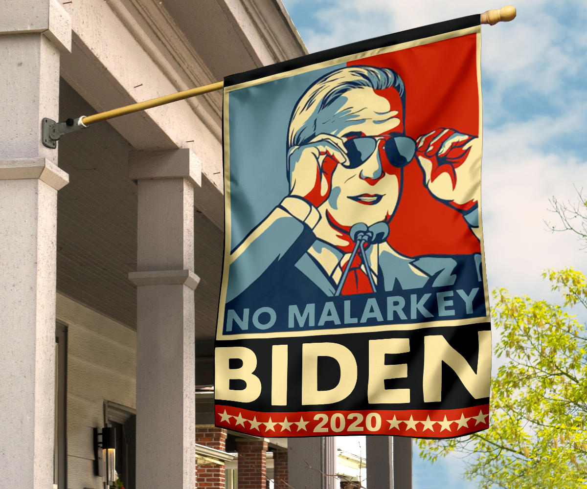 No Malarkey Biden 2020 Flag Supporting Biden President Campaign Slogan Cool Biden Shades