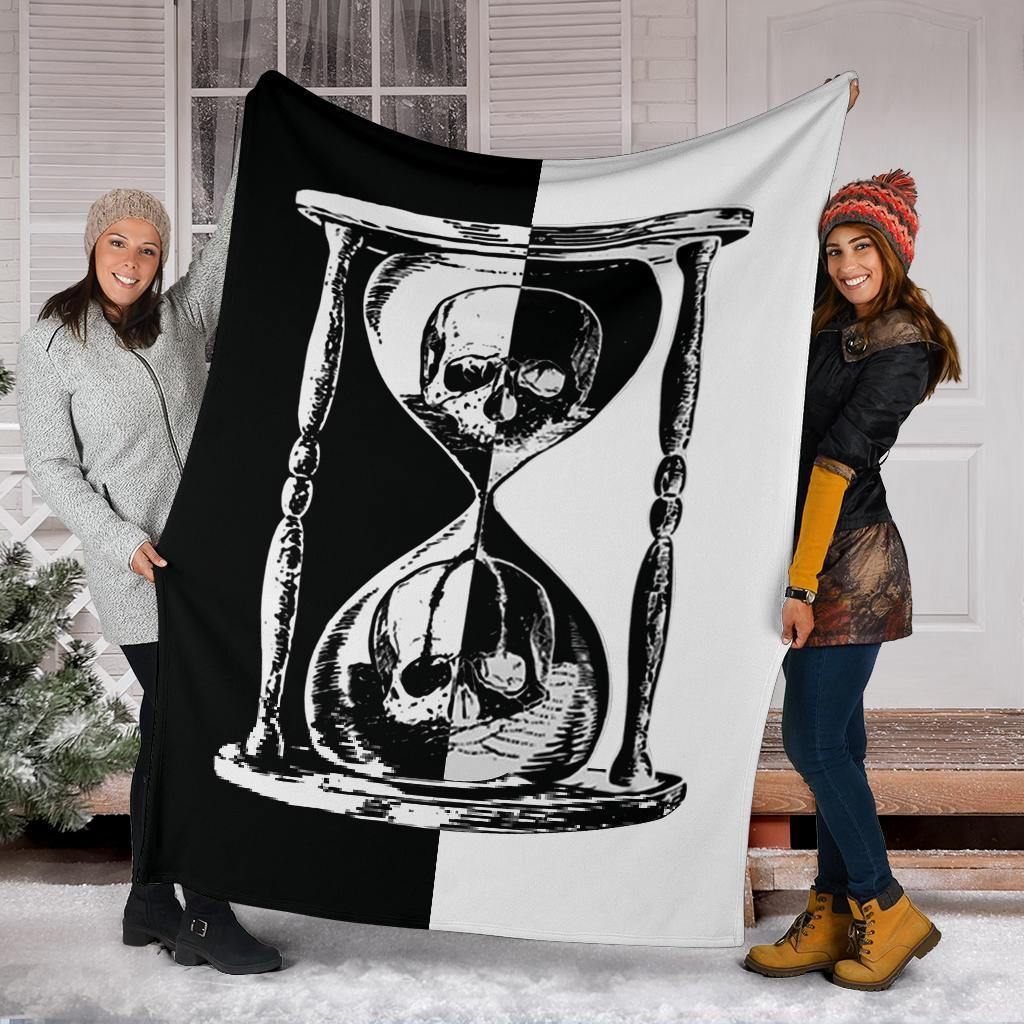 Unus Annus Split Blanket Skull Hourglass Half And Half Gift For Cute Boy Personalized Blankets - Pfyshop.com