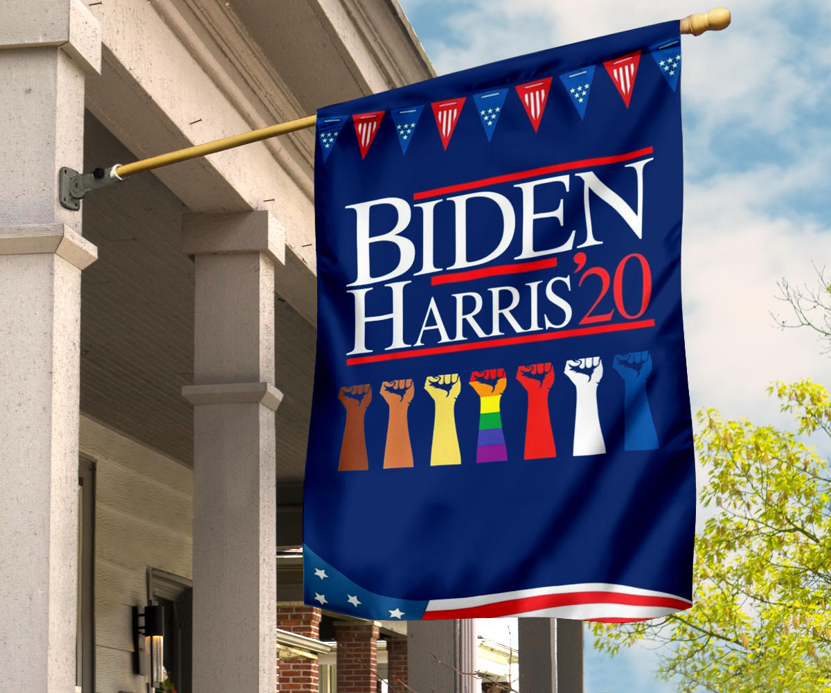 Biden Harris 2020 Flag LGBT Support Biden President Elect Campaign BLM Voter Flag For Democrats