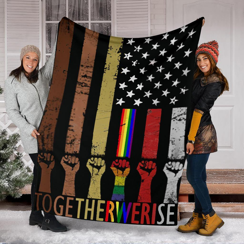 American Together We Rise Blanket  Patriotic Gifts - Pfyshop.com
