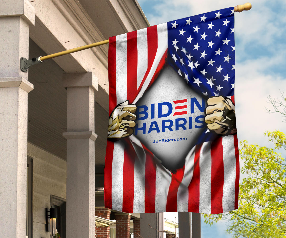 Biden Harris 2021 Flags Inside American Flag For 2021 Presidential Election