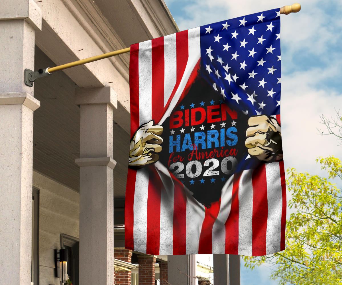 Biden Harris 2020 Flags And American Flag Joe Biden Fans Gift Outdoor and Indoor Decor