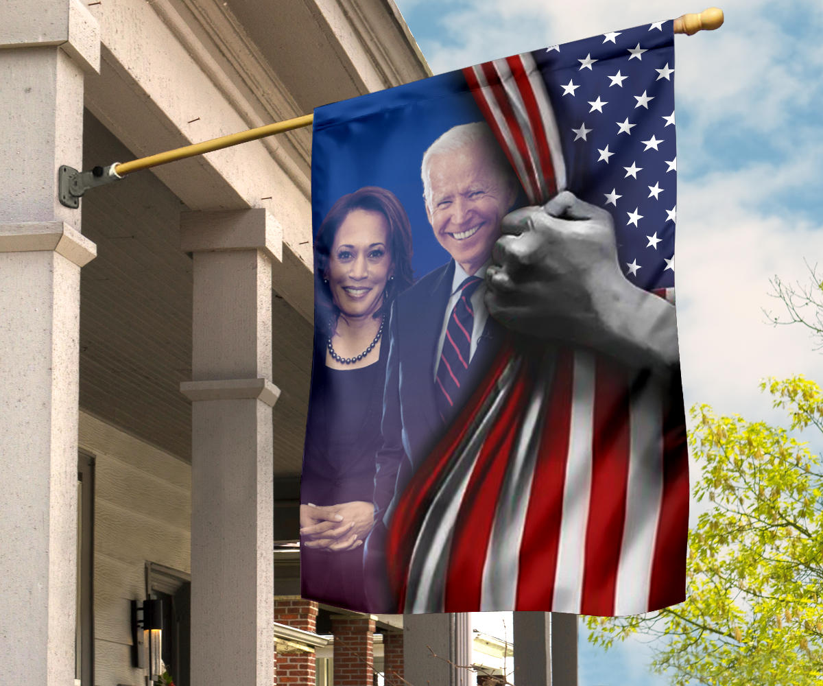 Joe Biden and Kamala Harris Flag Inside American Flag For Joe Biden Campaign Flag 2020