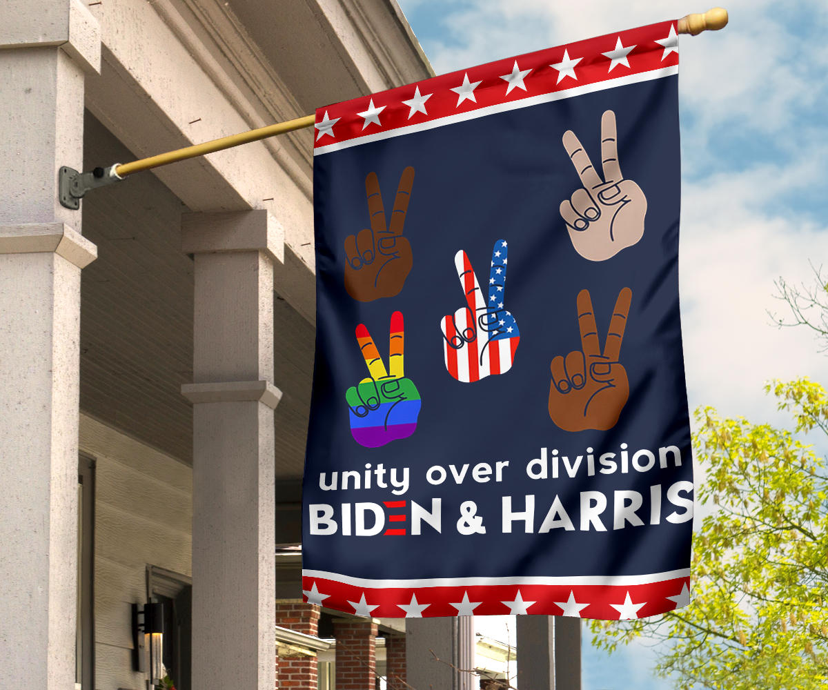 Unity Over Division Biden And Harris Flag For President 2020 Election Flag Unique Yard Ornaments