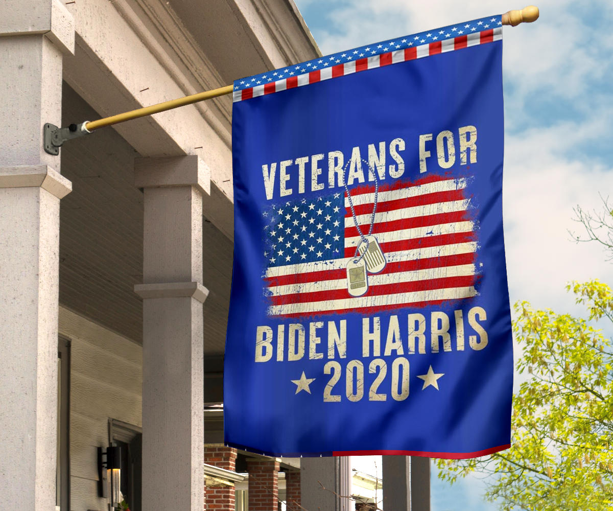 Veterans For Biden Harris American Flag Vote Biden Campaign Election For Wall Indoor Outdoor Decor