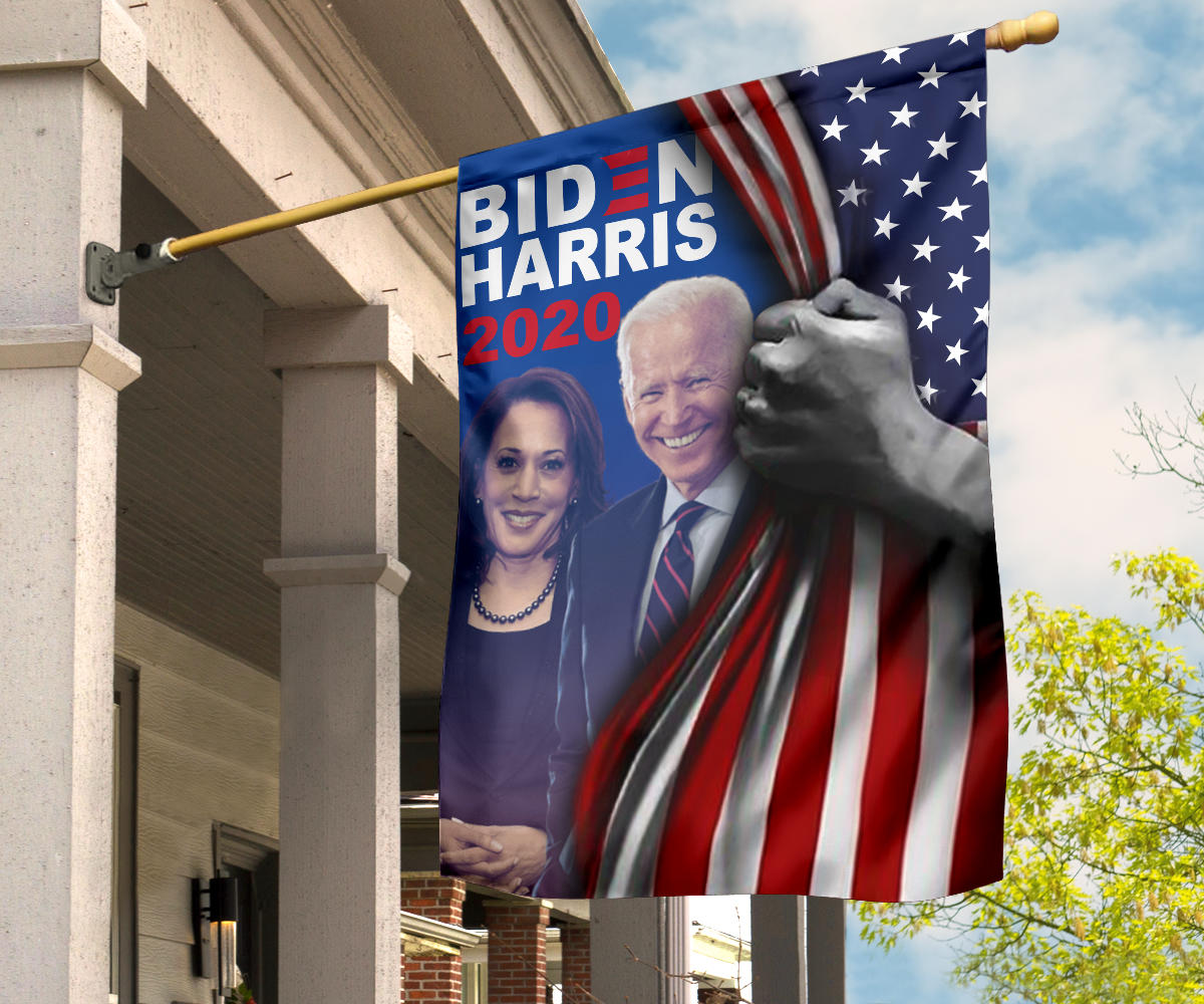 Biden Harris 2020 Flag Inside American Flag Patriotic Political Party Kamala Biden Campaign