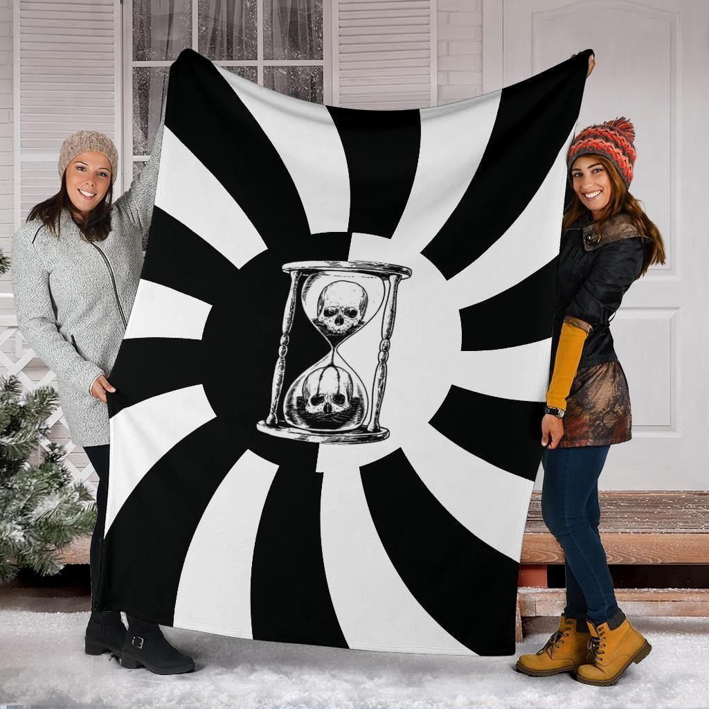 Unus Annus Blanket Black & White Hypnosis Spiral Gifts Family Presents The Big One Blanket - Pfyshop.com