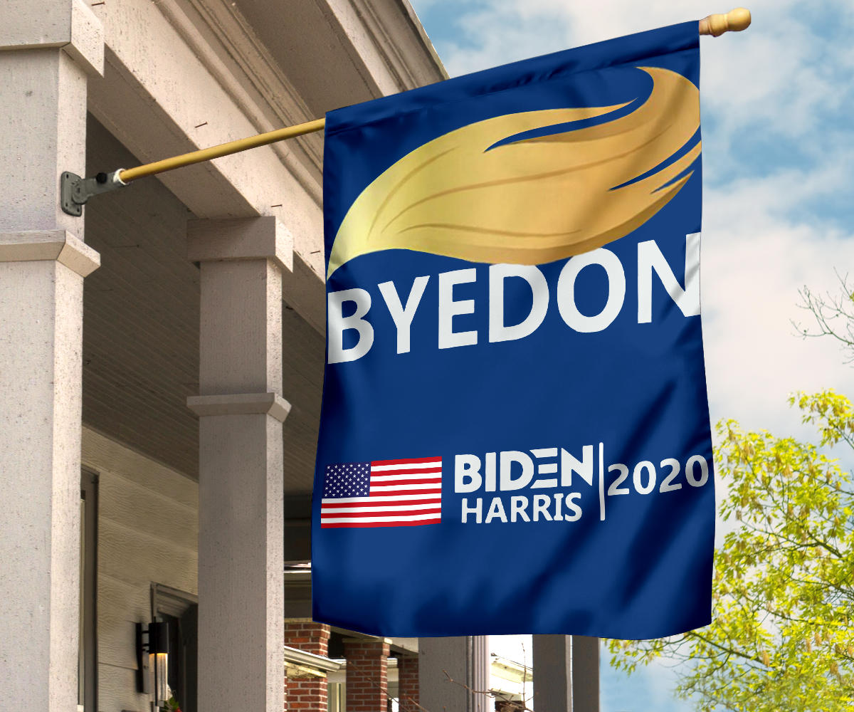 Byedon Biden Harris 2020 With American Flag Anti Trump Flag Go To The Pools Joe President 2020