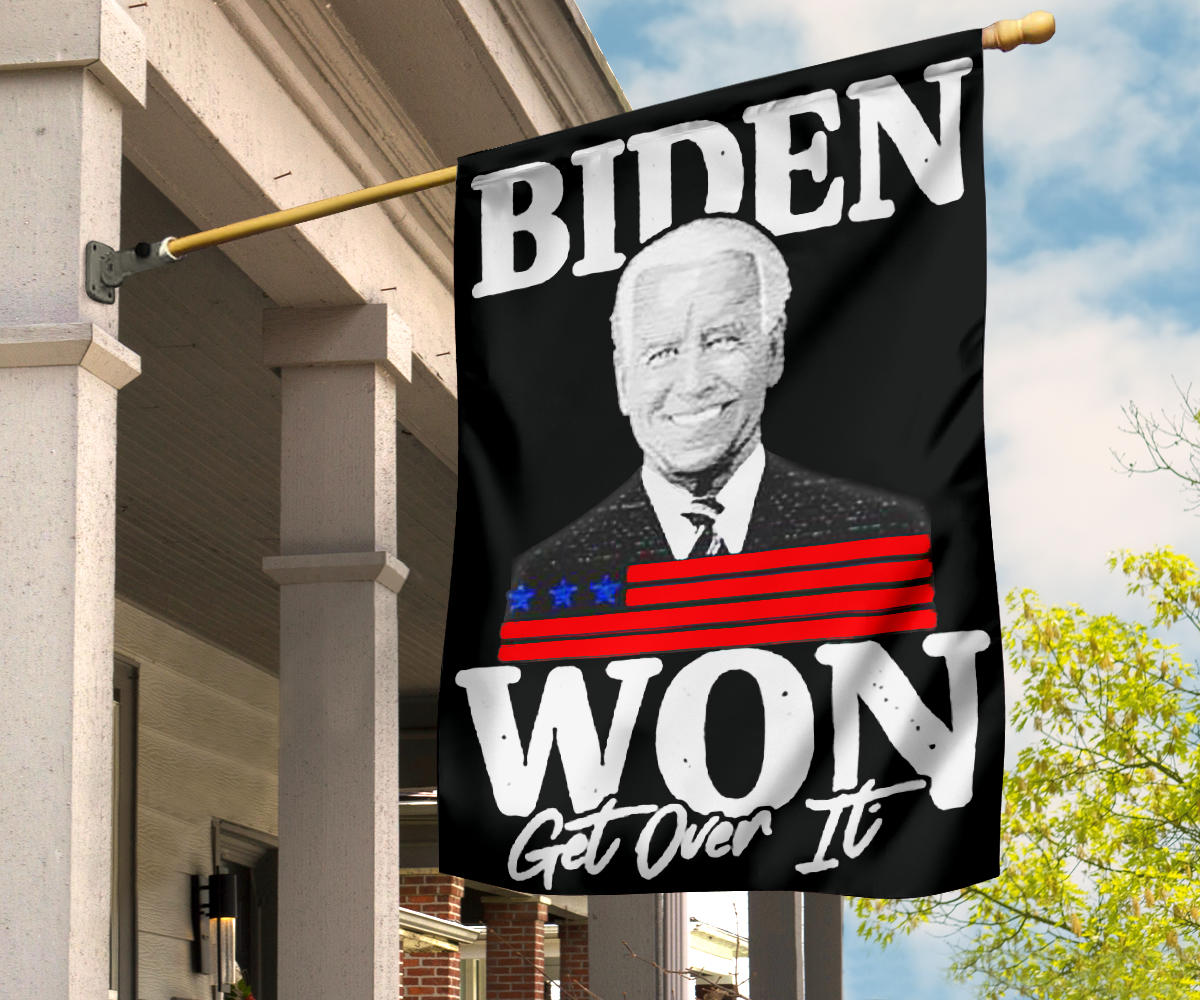 Biden Won Get Over It Flag Trump Lost Lol Flag Loser Trump Biden Harris Merch