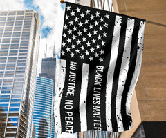 American No Justice No Peace Black Lives Matter Flag Blm