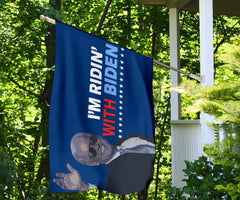 I'm Ridin With Biden Flag Joe Biden For President 2020 Flags Outdoor And Indoor Decor