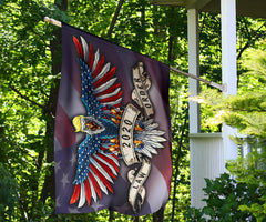 Law Order 2020 Soaring American Eagle With USA Flag Wings Trump American Flag