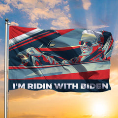 I'm Ridin With Biden 2020 Flag Vote For Joe Biden 2020 Pressident Flag